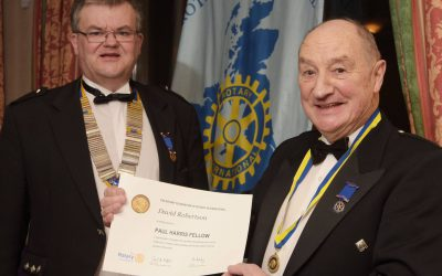 ROTARIAN DAVID AWARDED WITH PAUL HARRIS FELLOWSHIP December 4th 2017