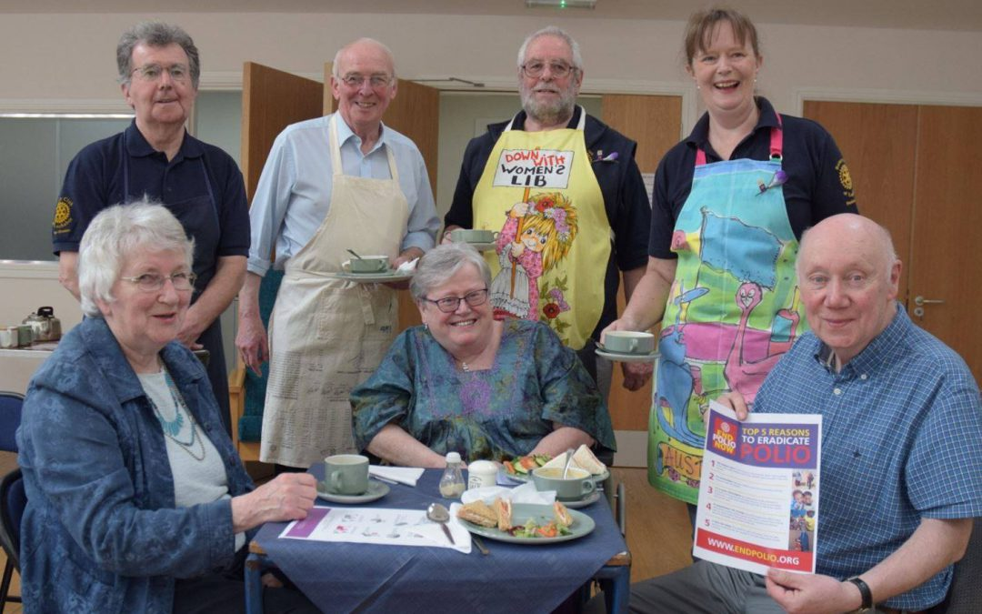 Great support for Lochaber Rotary's soup and Sandwich Lunch 13 May 2017