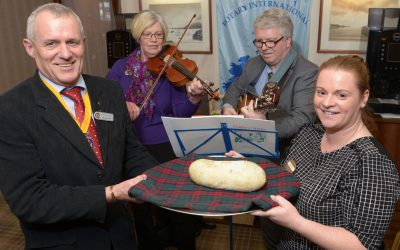 HAGGIS ADDRESS TAKES CENTRE STAGE  AT ROTARY CLUB 'BURNS SUPPER' LUNCH Jan 25th 2018