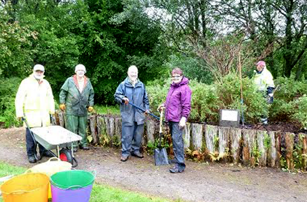 Lochaber Rotary Club Tackles Overgrown Community Gardens July 29th 2017