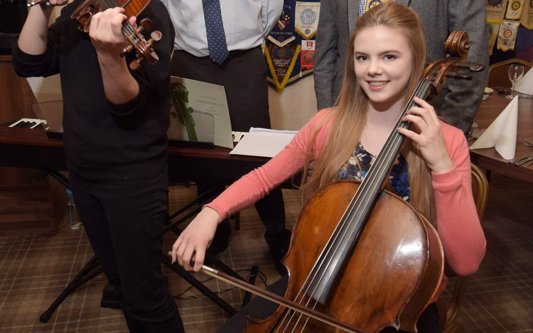 YOUNG MUSICIANS OF THE YEAR PERFORM AT ROTARY CLUB