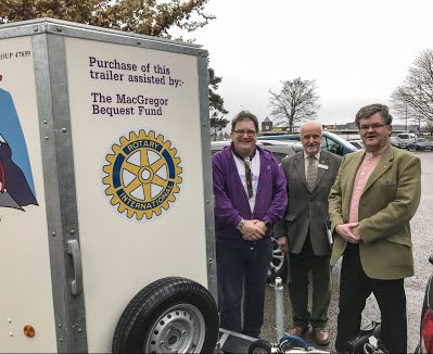 Rotary Inspects the Scout's Trailer Nov. 8th 2017